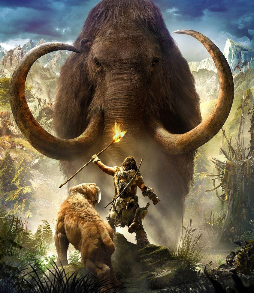 Far Cry Primal тигр и мамонт