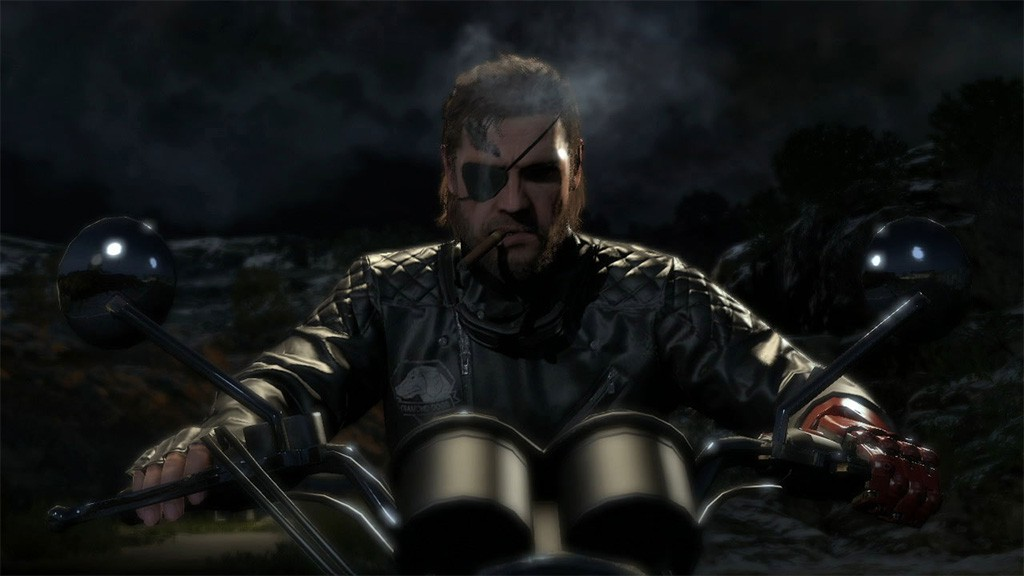 MGSV-The-Phantom-Pain-Snake-on-Triumph-Bonneville