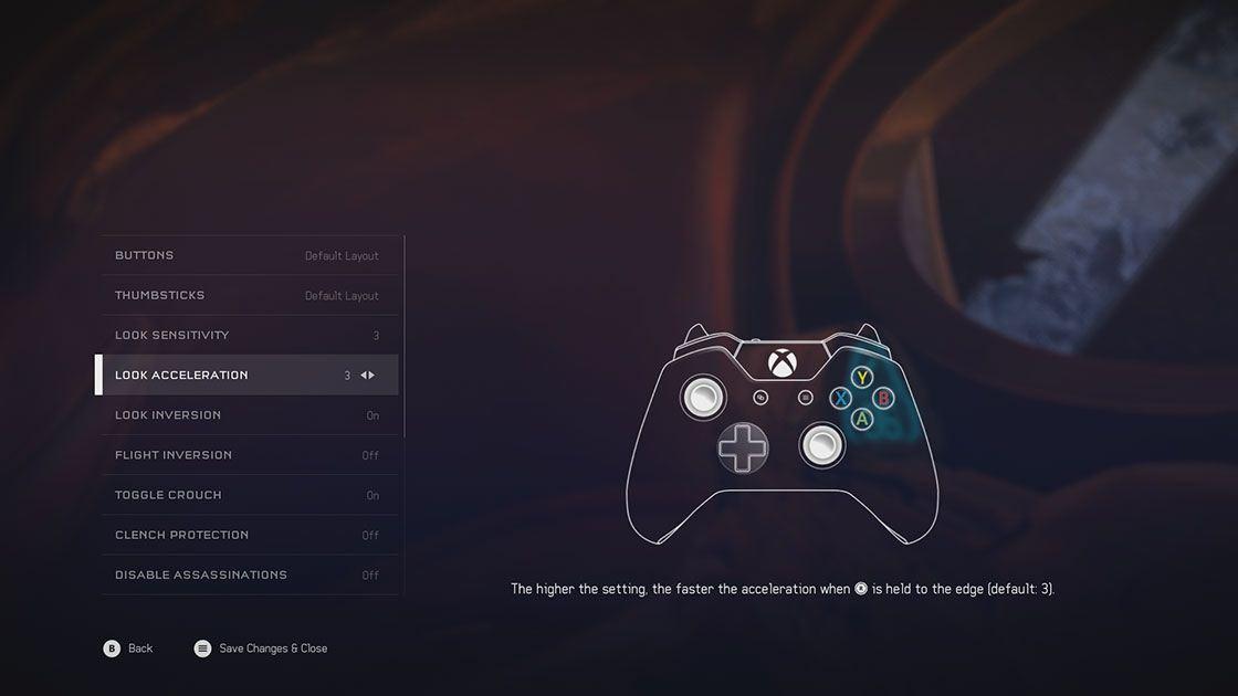 Halo 5 options screenshot 1