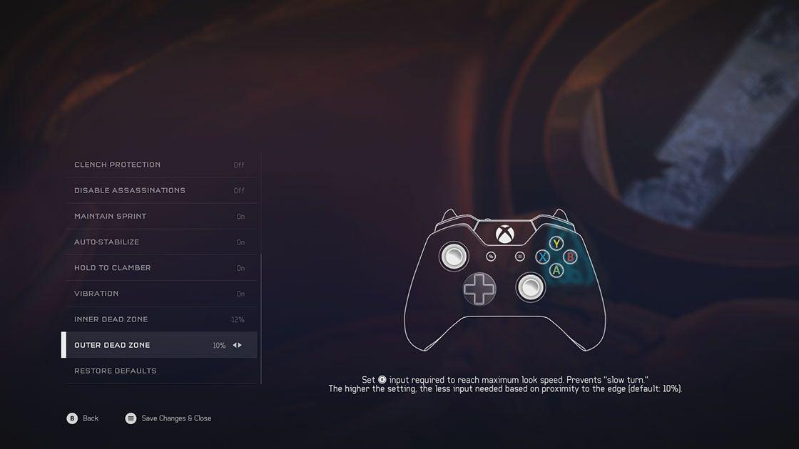 Halo 5 options screenshot 3