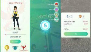 Pokemon go yомер уровня соответствует определённому числу XP
