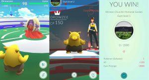 Pokemon go команды, Гимы, сражения