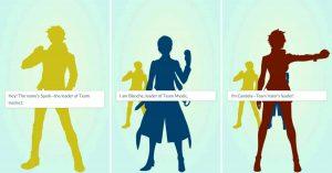 Три команды Pokémon Go