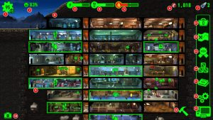 Обозначения элементов интерфейса и символов в Fallout Shelter