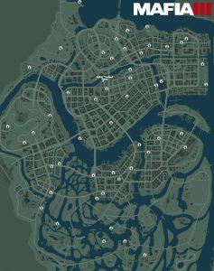 Карта с расположением журналов Плэйбой в Mafia 3