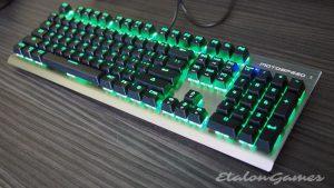 Подсветка клавиатуры Motospeed CK108 - эффект Normally On