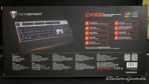 Обратная сторона упаковки Motospeed CK108