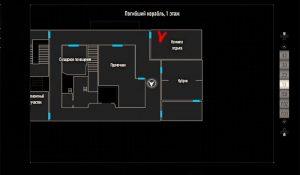Карта погибшего корабля, 1 этаж