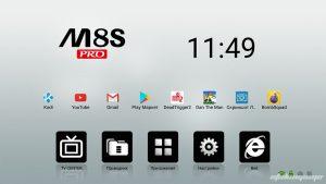 Главный экран MECOOL M8S Pro