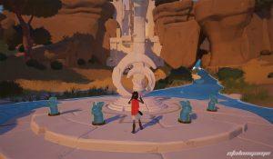 главный алтарь с четырьмя статуями