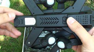 Отсек аккумулятора квадрокоптера VISUO XS809HW
