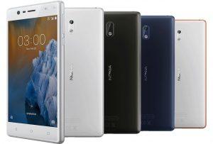 смартфон Nokia 3 с 5-дюймовым дисплеем
