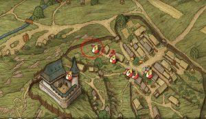 Карта с местом, где найти Фрицека