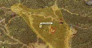 Карта, где находится лагерь разбойников