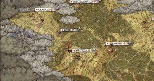 Карта расположения разбойничьего лагеря