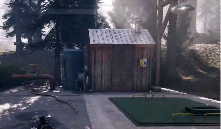 Вход в бункер с сокровищем