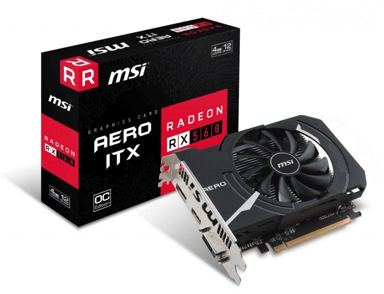 Видеокарта MSI Radeon RX 560 AERO