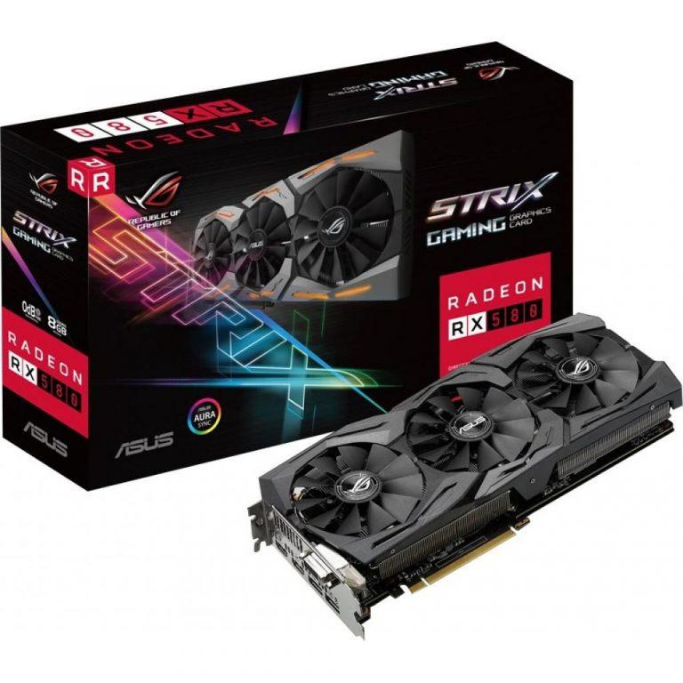 Видеокарта ASUS ROG Strix Radeon RX 580 O8G Gaming OC Edition