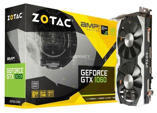 Видеокарта ZOTAC GTX 1060 AMP Edition